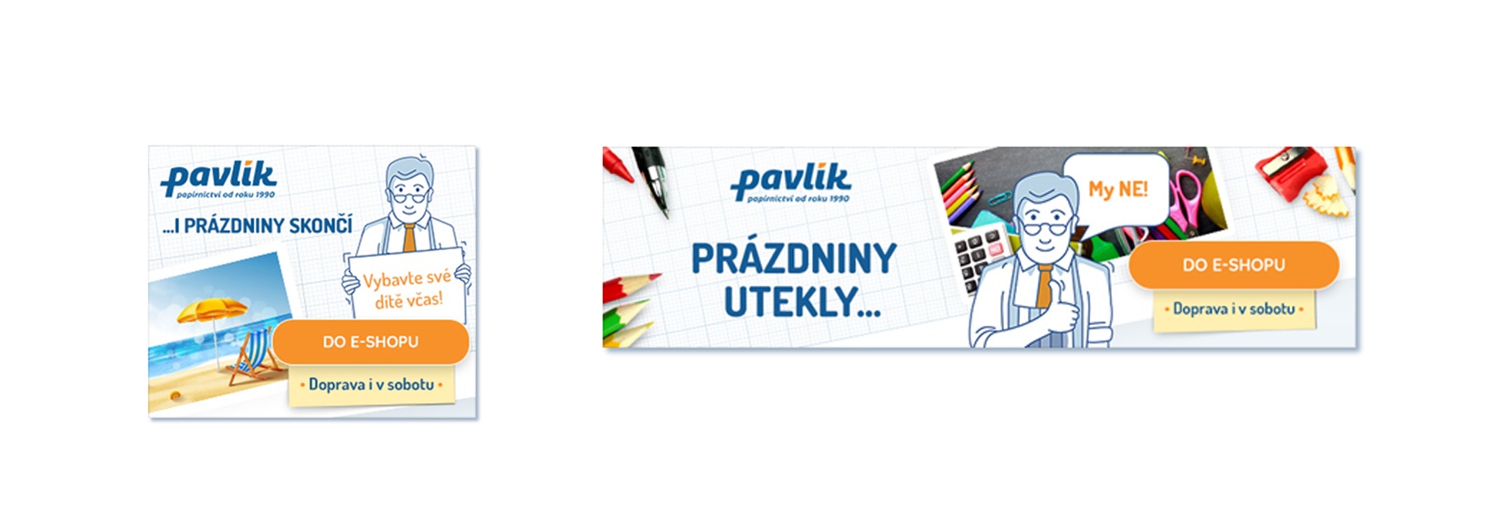 Ukázka bannerů brandové kampaně